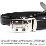 PB 皮爾帕門-頭層牛皮 精品 自動扣皮帶70104F