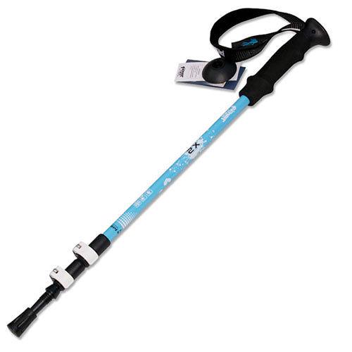 PUSH! 戶外休閒登山用品加厚管壁杖航空鋁合金鎢鋼杖尖三節調整式登山杖 一入P68