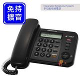 Panasonic 國際牌來電顯示有線電話機 KX-TS580 (經典黑)
