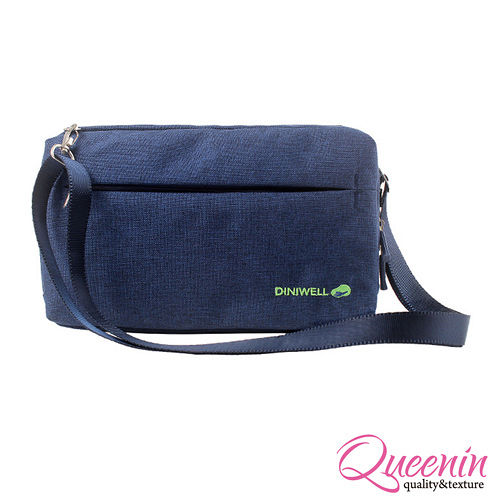 DF Queenin日韓 - 韓版高質感旅行專屬側背包-深藍