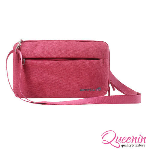 DF Queenin日韓 - 韓版高質感旅行專屬側背包-玫紅