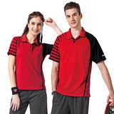 【SPAR】吸濕排汗男女版短袖POLO衫(SP48374、SP47374)紅色
