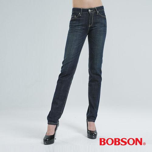 BOBSON 小直筒褲 (深藍8026-53)