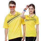 【SPAR】吸濕排汗男版短袖POLO衫(SP61551)亮黃色3L