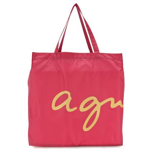 agnes b. 經典星星購物袋(桃紅色)