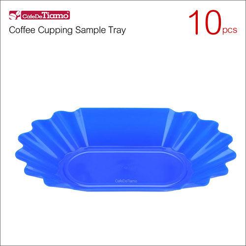 Tiamo 1429 橢圓塑膠豆盤(10入) 藍色 (HG9288BL)
