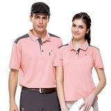 【SPAR】吸濕排汗男版短袖POLO衫(SP61842)桂粉色XL