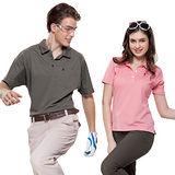 【SPAR】吸濕排汗男女版短袖POLO衫(SP61963、SP73961)咖啡色+粉紅色