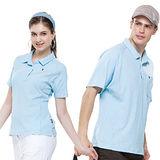 【SPAR】吸濕排汗女版短袖POLO衫(SP73962)淡水藍色XL