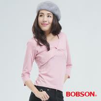 BOBSON 短罩衫.仿兩件式上衣-粉紅色 65076-12