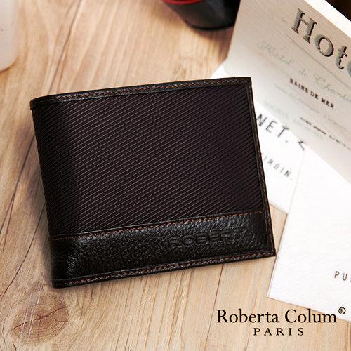Roberta Colum - 雅痞時尚系牛皮款可拆式左右翻12卡2照短夾