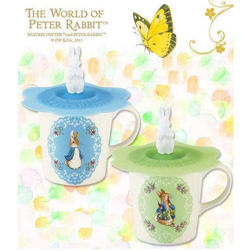 【クロワッサン科羅沙】Peter Rabbit~ 經典比得兔 PI附蓋花圓馬克杯