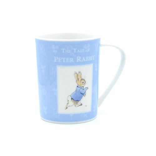 【クロワッサン科羅沙】Peter Rabbit~ 經典比得兔 PI藍色彩瓷杯(比得兔)