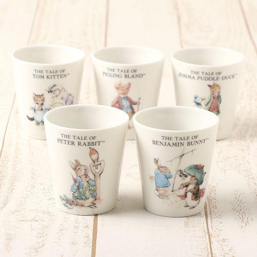 【クロワッサン科羅沙】Peter Rabbit~ 經典比得兔 PI茶杯組220ML*5入(比得潔瑪)