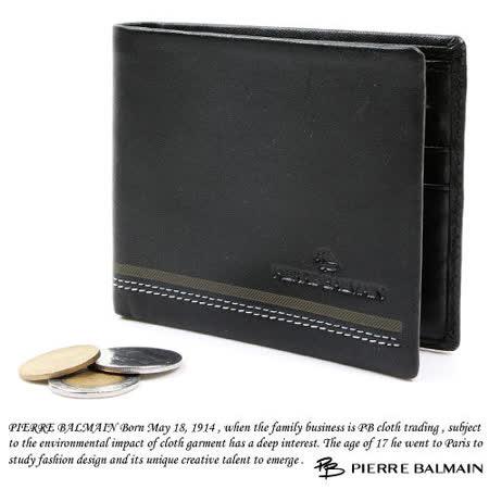 PB-皮爾帕門【STITCHING STYLE】10卡2夾1袋 皮夾P522002-01 -friDay購物