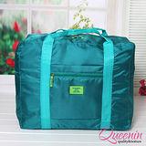 DF Queenin日韓 - 韓版折疊式大容量手提肩背旅行袋-共4色