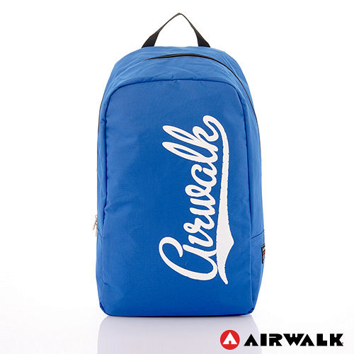 AIRWALK - 快樂曲線 撞色LOGO後背包 - 白字藍
