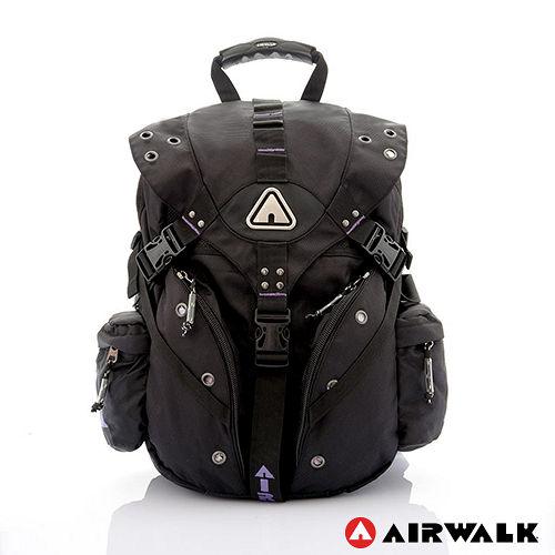 AIRWALK - 美式潮流三叉扣尼龍大後背包 - 活力紫
