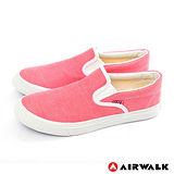 AIRWALK(女) - 滿點活力 馬卡龍調和色系 帆布鞋 - 馬卡紅