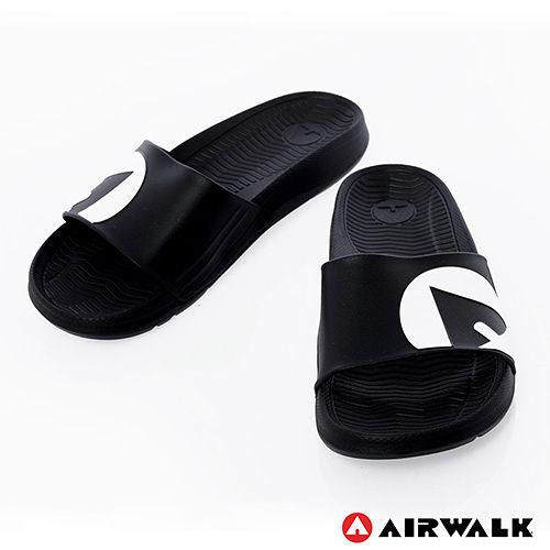 AIRWALK- 輕盈舒適中性EVA休閒多功能室內外拖鞋 - 黑