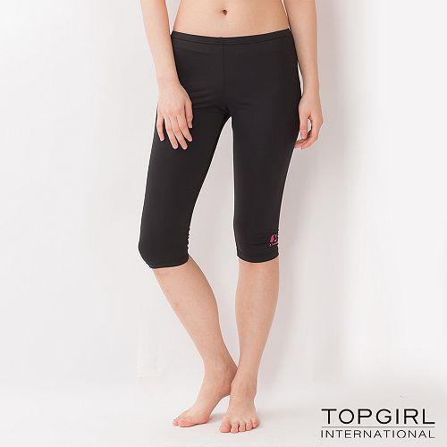 TOP GIRL 韻律緊身七分褲(神祕黑)