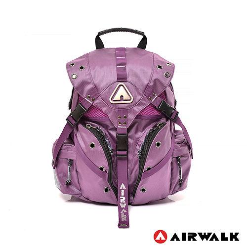 AIRWALK - Life is color 繽紛生活三叉扣彩色迷你後背包 - 繽紛紫