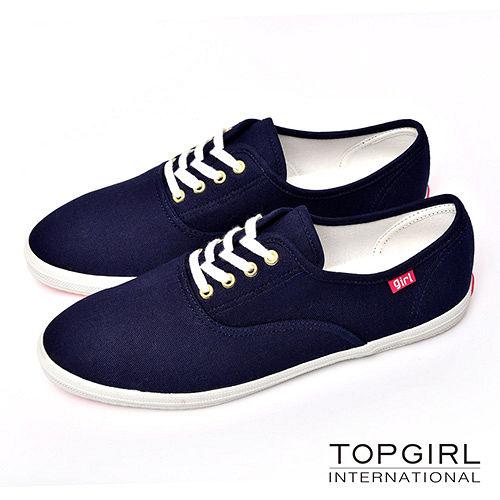 【TOP GIRL】繽紛糖果帆布鞋-丈青藍