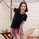 【TOP GIRL】甜蜜小公主圓領Tee-女(深海藍)