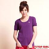 【TOP GIRL】甜蜜小公主圓領Tee-女(甜蜜紫)
