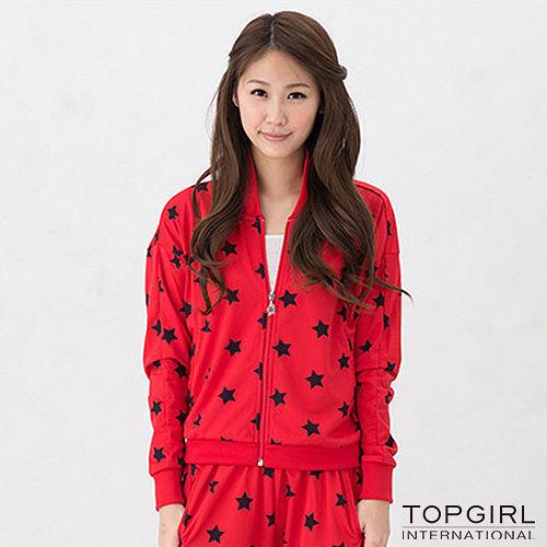【TOP GIRL】星勢力女孩飛鼠袖外套-女(火熱紅)