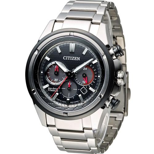 星辰 CITIZEN Eco-Drive 超級鈦紳士計時腕錶 CA4241-55E