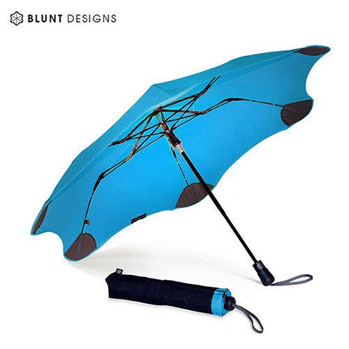 【紐西蘭BLUNT 保蘭特】抗強風防反傘抗UV時尚雨傘(折傘 XS_Metro風格藍)