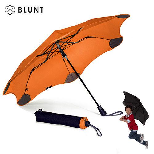 【紐西蘭BLUNT 保蘭特】抗強風防反傘抗UV時尚雨傘(折傘 XS_Metro扶桑橘)