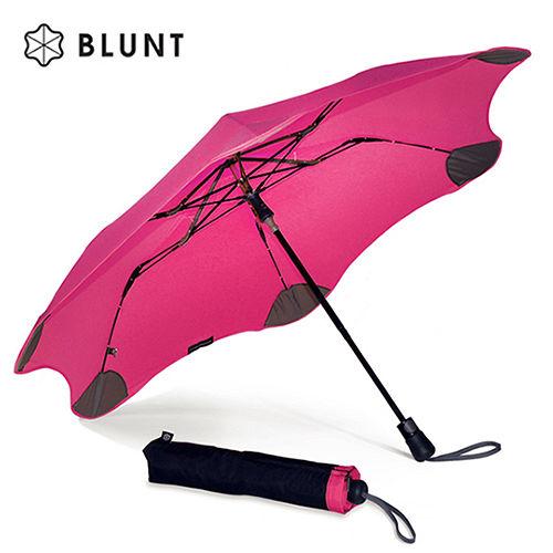 【紐西蘭BLUNT 保蘭特】抗強風防反傘抗UV時尚雨傘(折傘 XS_Metro艷桃紅)