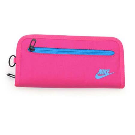 NIKE 手拿包-手機包 手提包 長夾 螢光粉紫 F