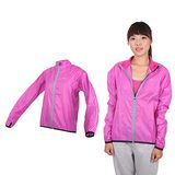 (女) MIZUNO 路跑風衣- 慢跑 防風外套 立領 台灣製 美津濃 紫銀