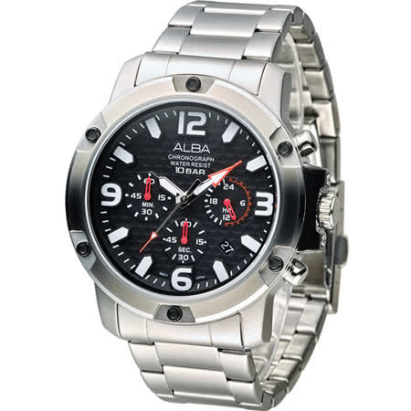 ALBA 雅柏 街頭型男計時腕錶 VD53-X218D AT3827X1