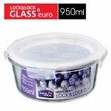 樂扣 第二代耐熱玻璃保鮮盒-圓(950ml)