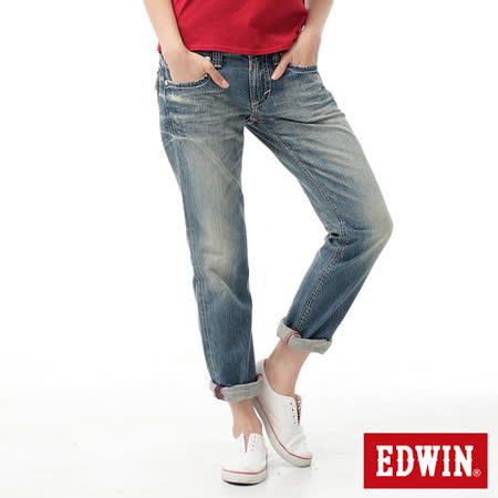 EDWIN MISS503 袋蓋中直筒褲