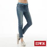 EDWIN 迦績褲 JERSEYS涼感AB牛仔褲-女-石洗藍