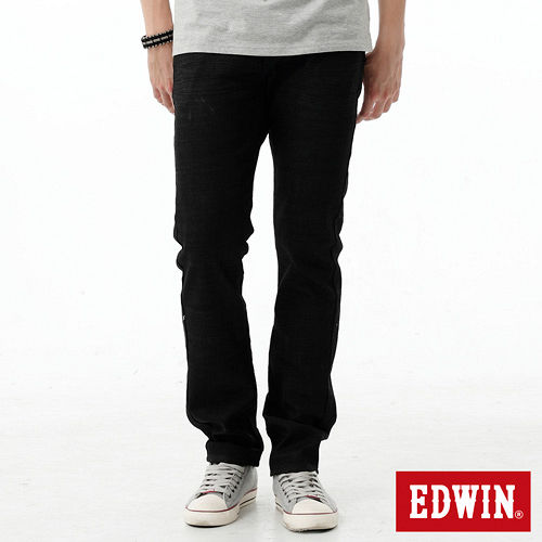 EDWIN 503 E-FUNCTION窄直筒牛仔褲-男-黑色