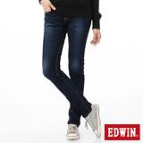 EDWIN 迦績褲JERSEYS內藏紅布邊牛仔褲-女-原藍磨