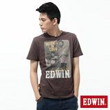EDWIN T恤 樂手繡花圓領T恤-男-咖啡