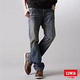 EDWIN XV袋蓋中直筒牛仔褲-男-石洗藍