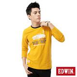 EDWIN T恤 歡樂兜風圓領T恤-男-土黃