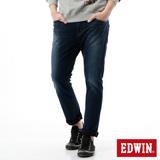 EDWIN 迦績褲 CARGO窄直筒牛仔褲-男-拔洗藍