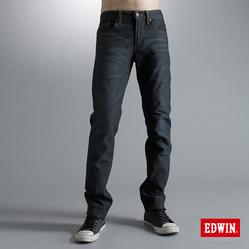 EDWIN 503ZERO雷射中直筒保溫褲-男款(酵洗藍)