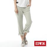 EDWIN KHAKI中直筒休閒褲-女-淺灰色