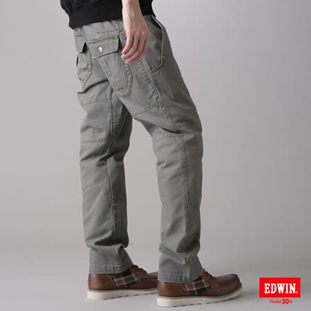 EDWIN KAKHI503多口袋休閒長褲-男-橄欖綠
