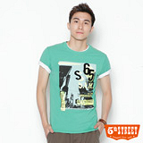 5th STREET 時代廣場印花T恤-男-綠色
